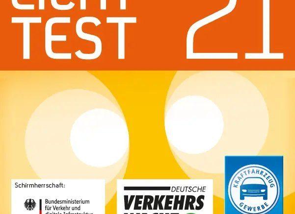 Jahreszeit: Lichttest 2021. Abbildung: Deutsche Verkehrswacht