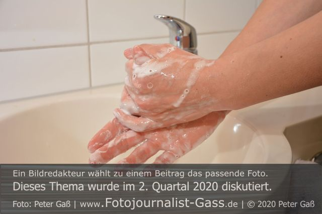 Titelbild Diskutiert, 2. Quartal 2020: Handhygiene rückt in den Fokus. Foto: Peter Gaß