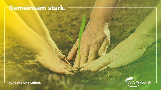 Agribusiness: Der neue Claim von Agravis: Gemeinsam stark. Für Land und Leben. Abbildung: Agravis