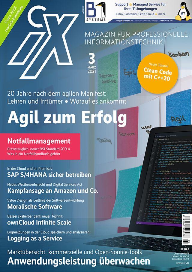 Digitalisierung: 20 Jahre agiles Manifest. Coverabbildung: Heise Gruppe GmbH & Co. KG